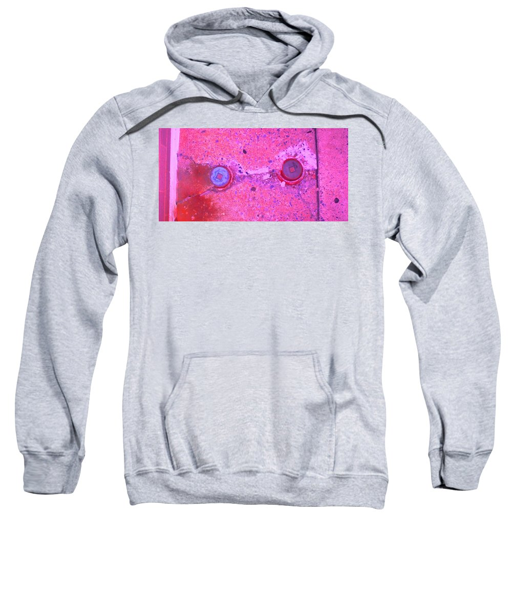 Photograph Sweatshirt featuring the photograph Damaged Pipes by Thomas Valentine