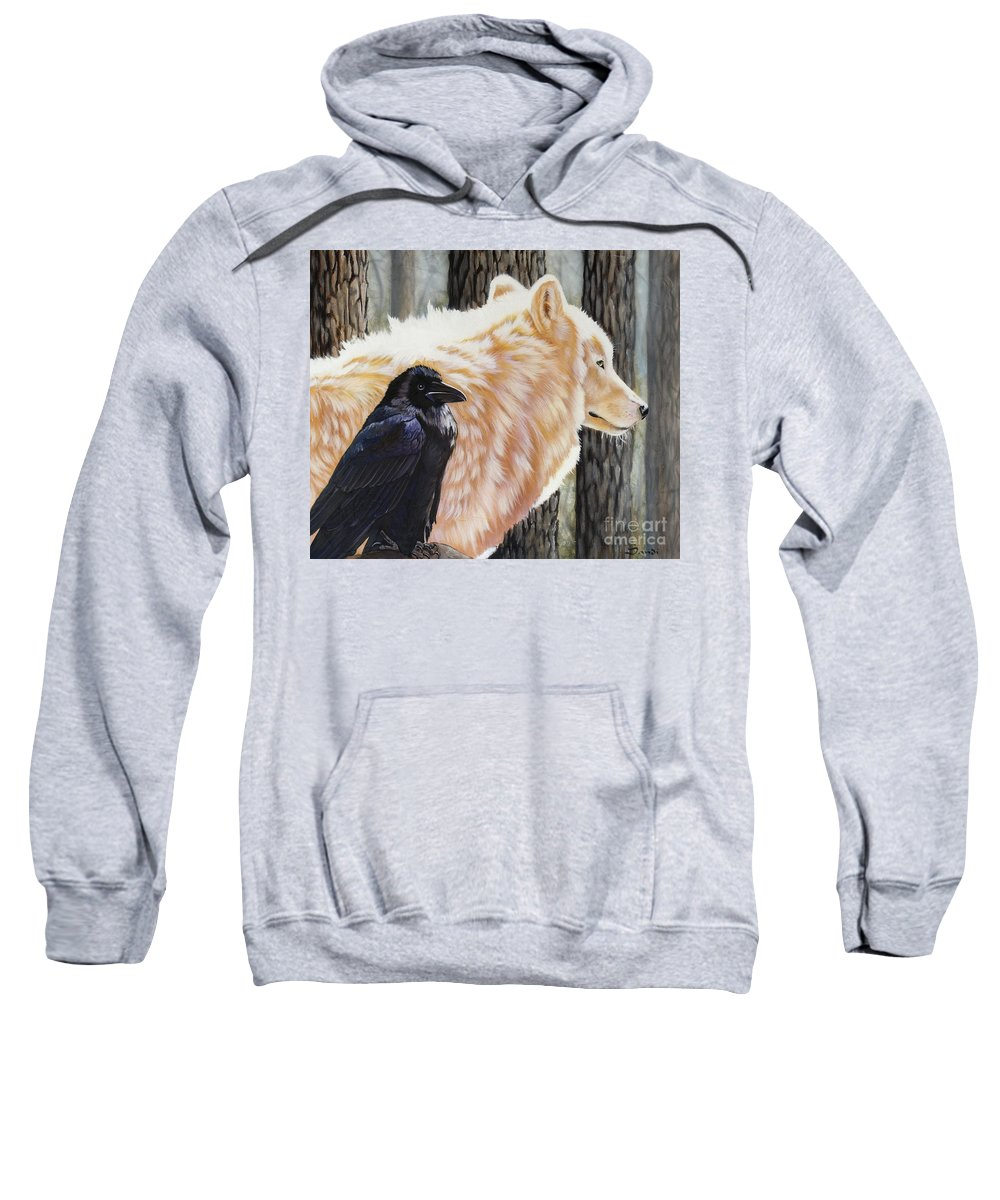 Acrylic Sweatshirt featuring the painting Dance In The Light by Sandi Baker