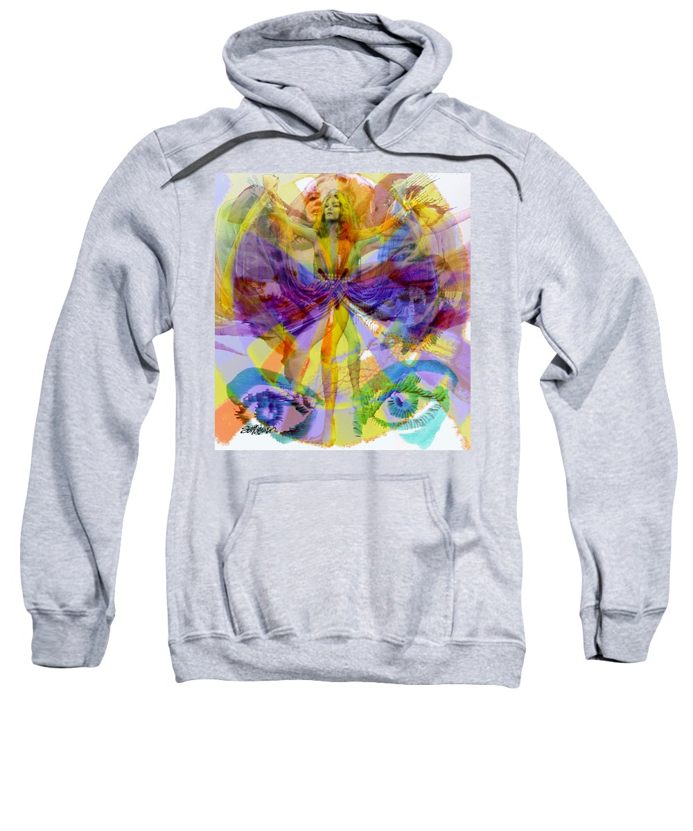 Dance Of The Rainbow Sweatshirt featuring the digital art Dance Of The Rainbow by Seth Weaver