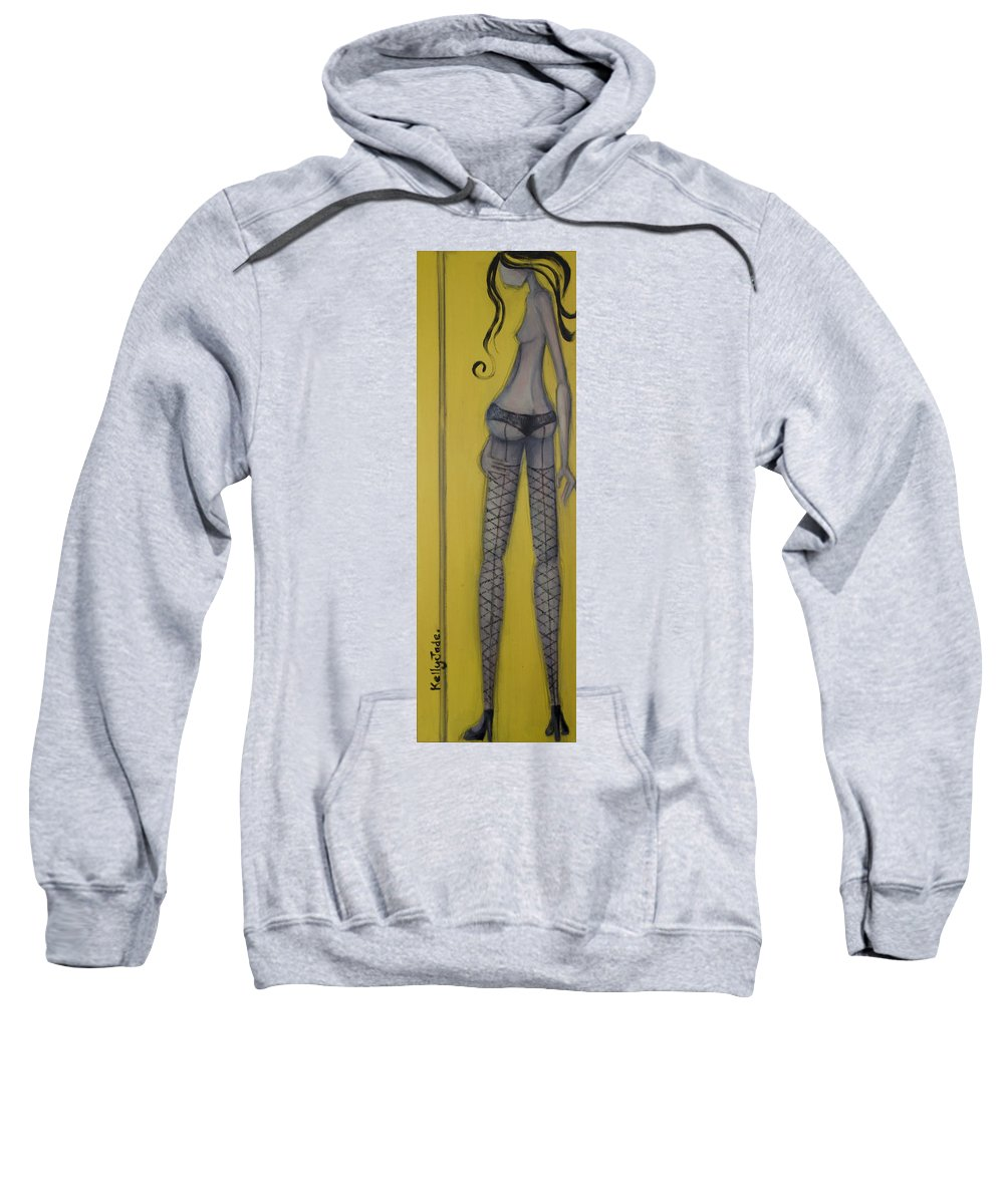 Dancer Sweatshirt featuring the painting Dancer by Kelly Jade King