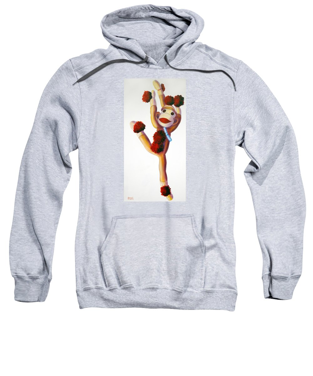 Dancer Sweatshirt featuring the painting Dancer Made Of Sockies by Shannon Grissom