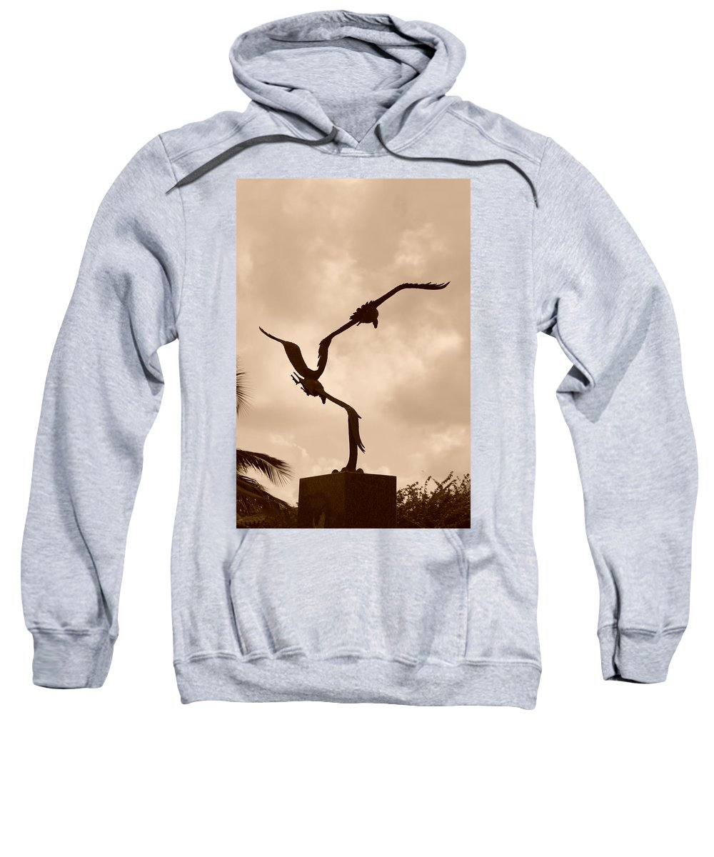 Sepia Sweatshirt featuring the photograph Dancing Birds by Rob Hans