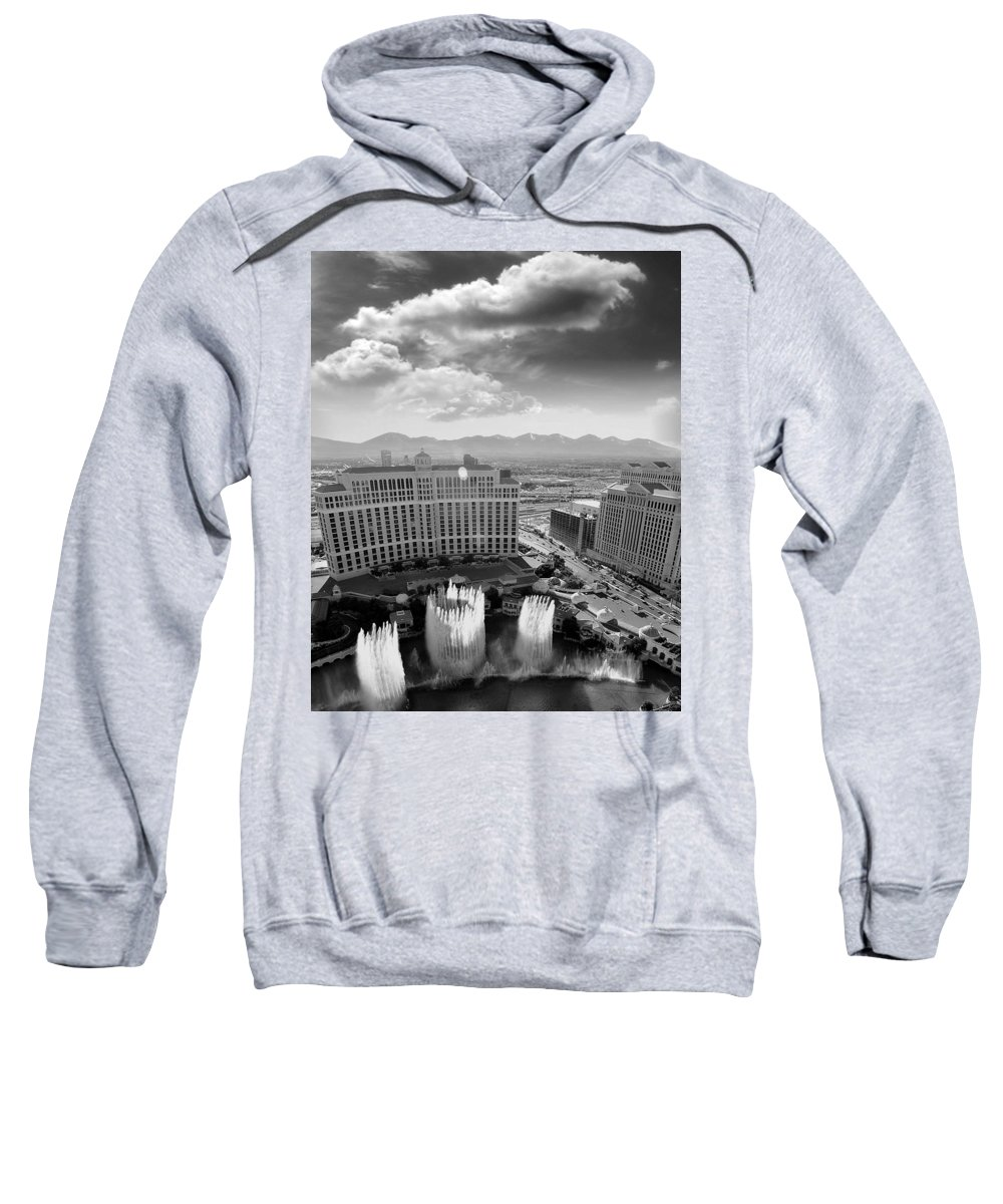 Dancing Fountains Sweatshirt featuring the photograph Dancing Fountains by Adam Orzechowski