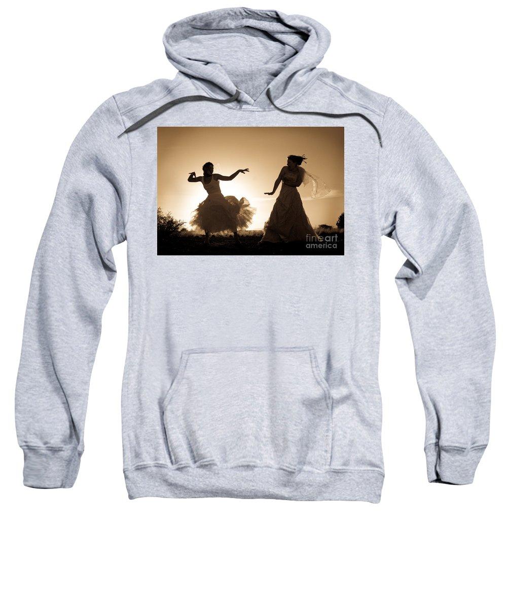 Dancing Girls Sweatshirt featuring the photograph Dancing Girls by Scott Sawyer