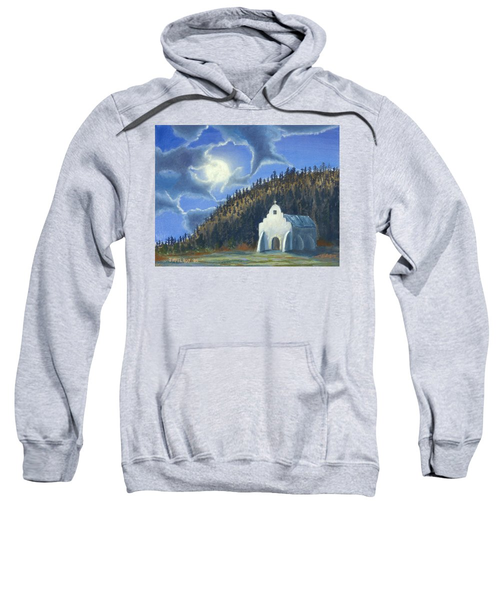 Landscape Sweatshirt featuring the painting Dancing In The Moonlight by Jerry McElroy