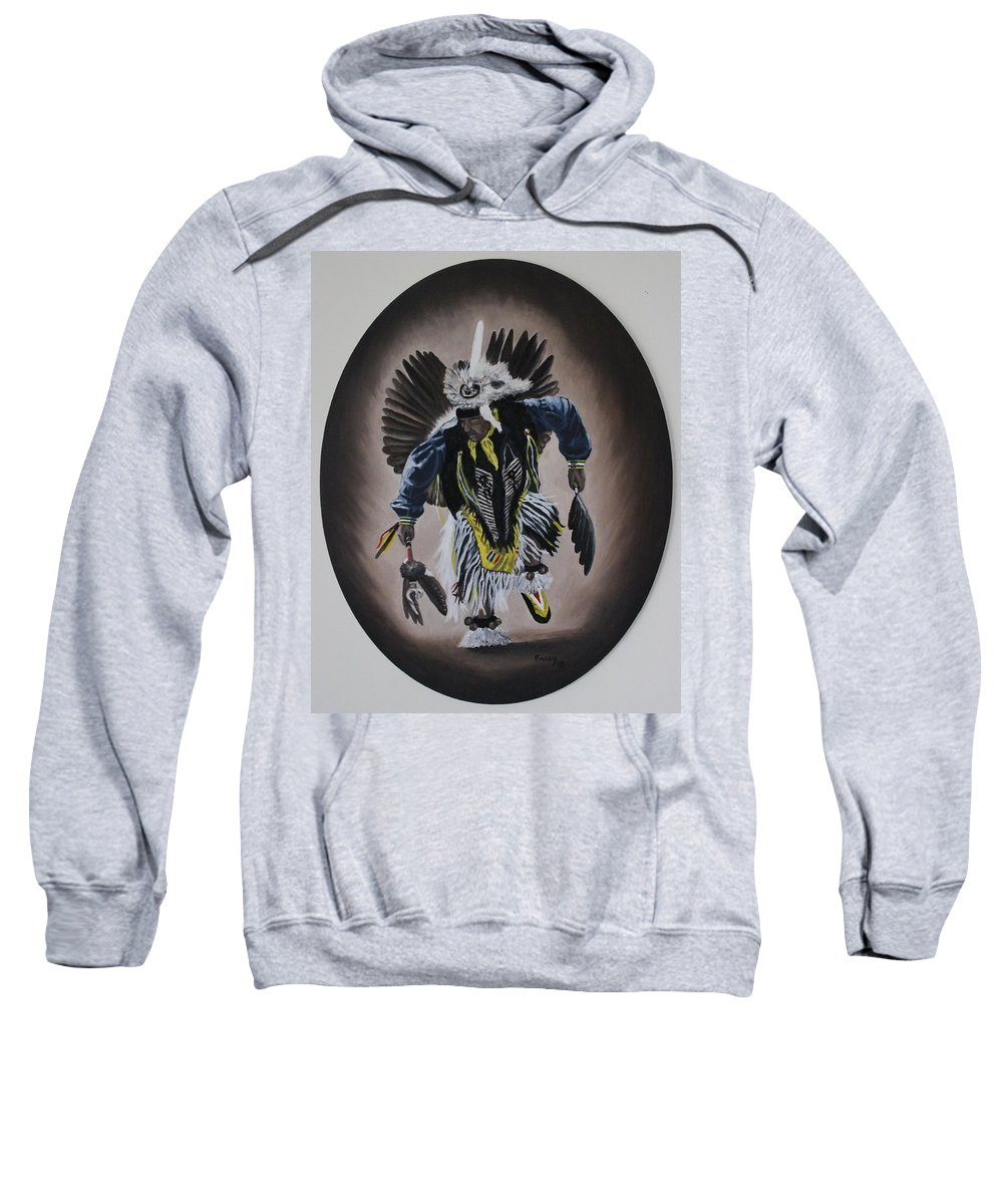 Michael Sweatshirt featuring the painting Dancing In The Spirit by Michael TMAD Finney