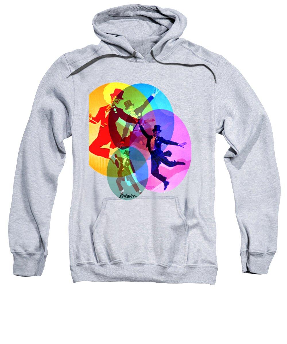 Dancing On Air Sweatshirt featuring the digital art Dancing on Air by Seth Weaver