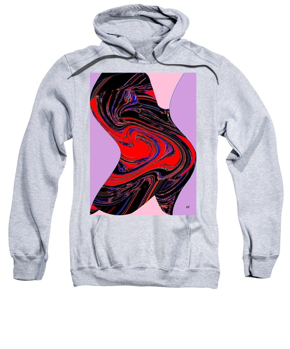 Abstract Sweatshirt featuring the digital art Dancing Queen Roline by Will Borden