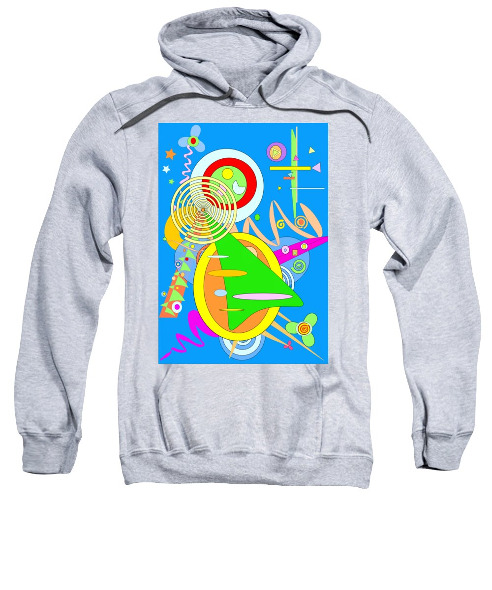 Dancing Spirals Sweatshirt featuring the digital art Dancing Spirals 2 by Michael Witia
