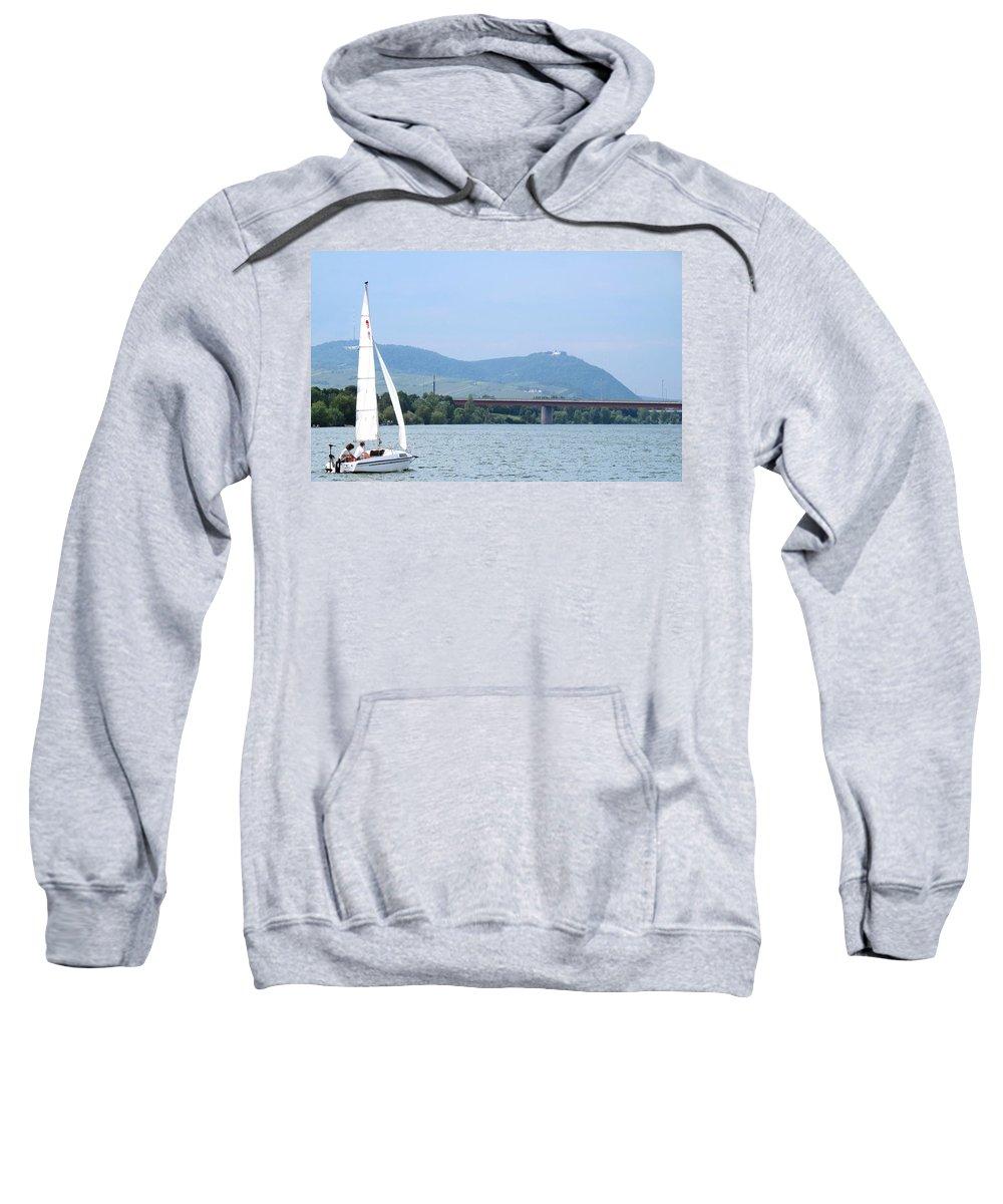 Sail Sweatshirt featuring the photograph Danube River Sailor by Ian MacDonald