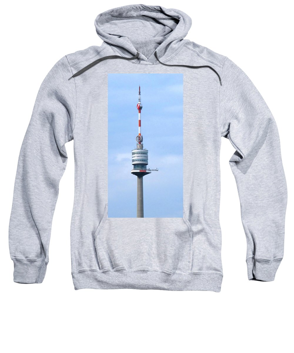 Danube Sweatshirt featuring the photograph Danube Tower Vienna by Ian MacDonald