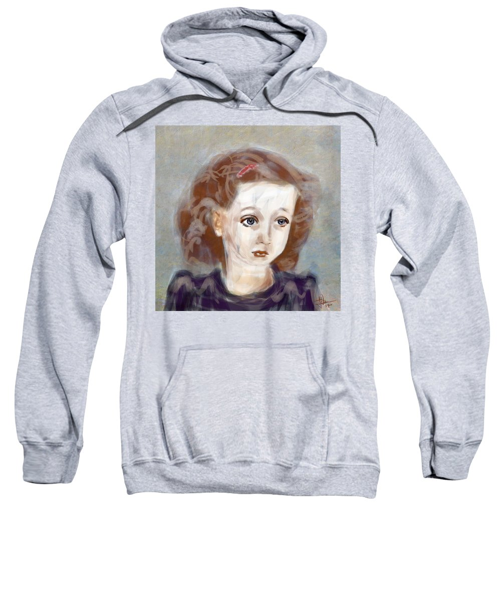 Portrait Sweatshirt featuring the digital art Daphne by Jim Vance
