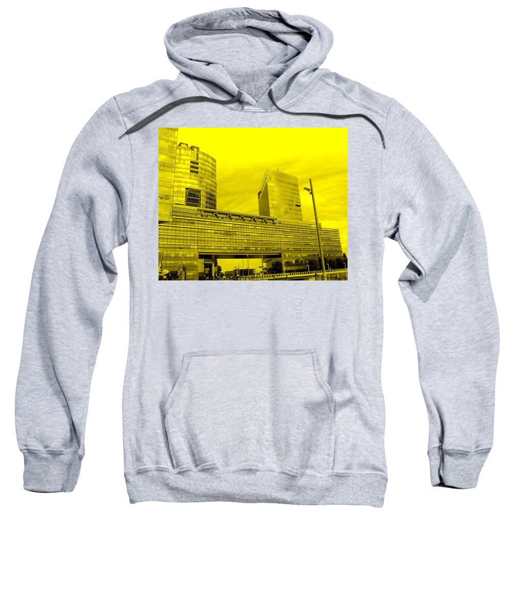 Vienna Sweatshirt featuring the photograph Daring Architecture by Ian MacDonald
