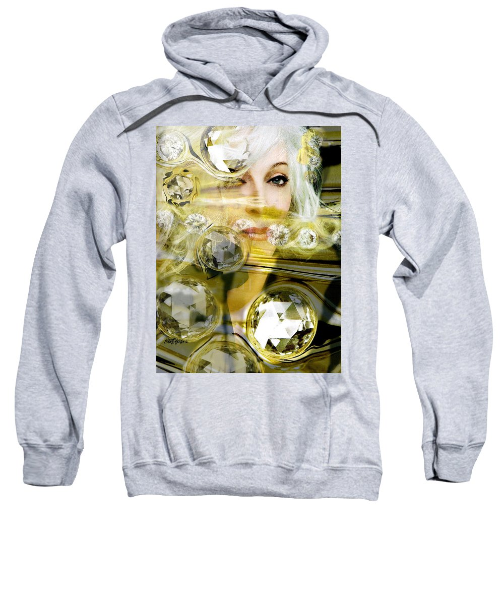 Women Sweatshirt featuring the digital art Darling Diamonds by Seth Weaver