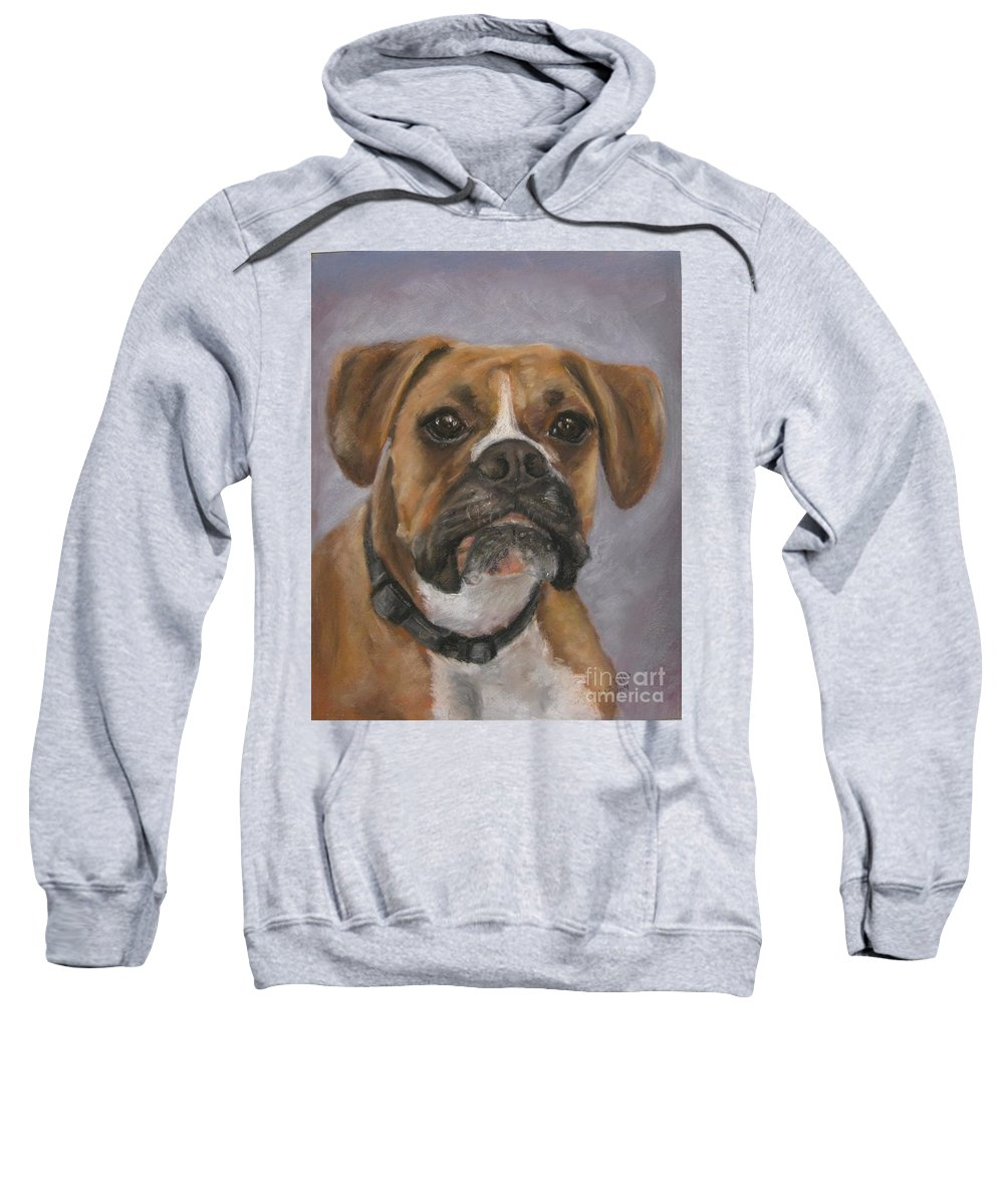 Boxers Sweatshirt featuring the painting Dave by Elizabeth Ellis