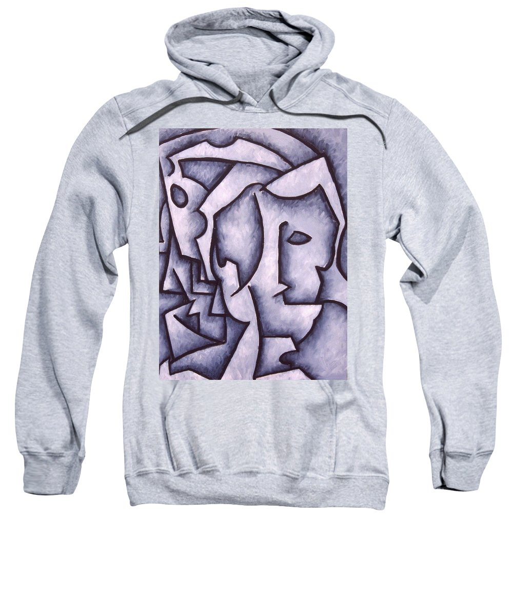 Abstract Sweatshirt featuring the painting David by Thomas Valentine