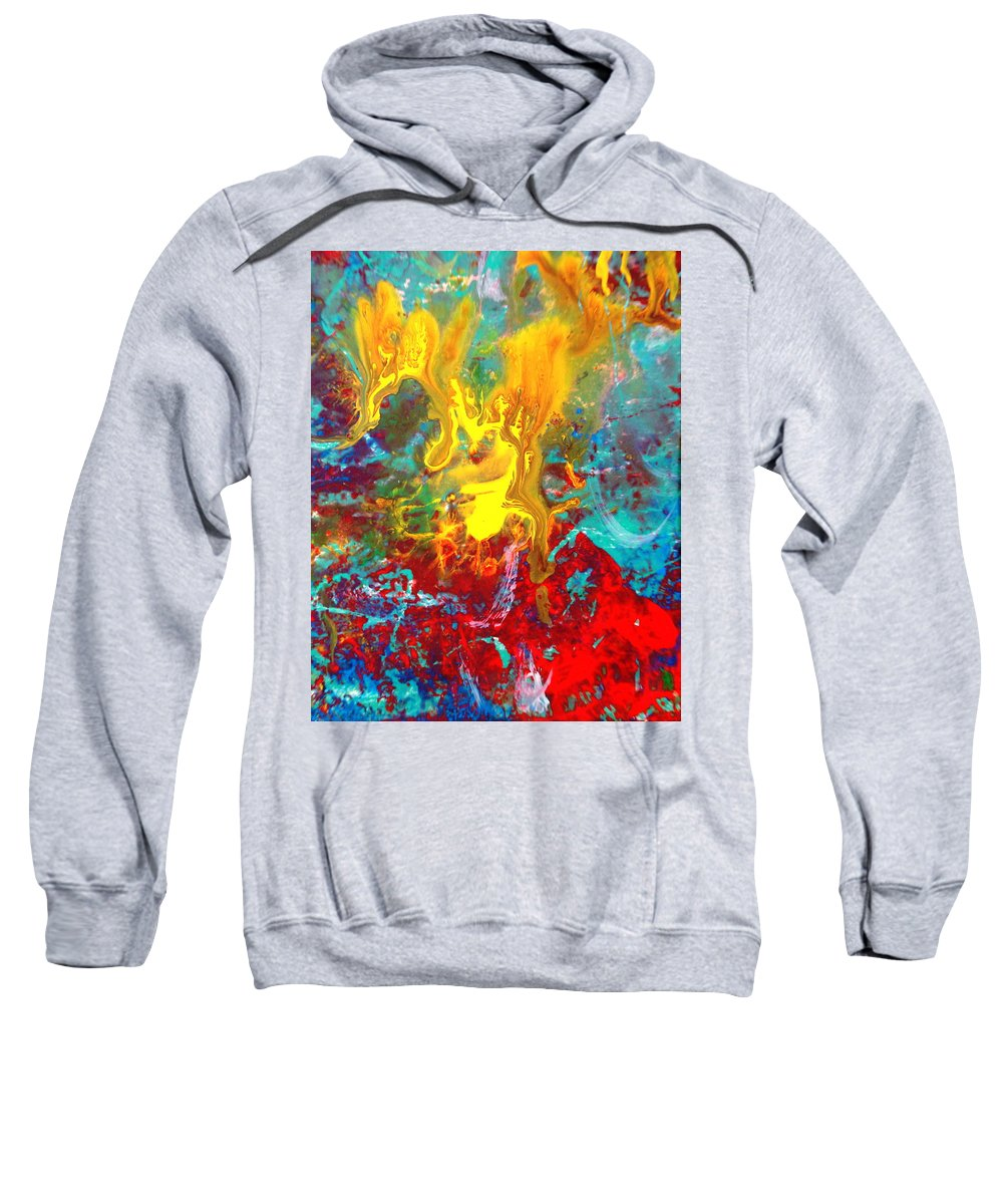 Abstract Sweatshirt featuring the painting Dawn Of The Universe by Natalie Holland