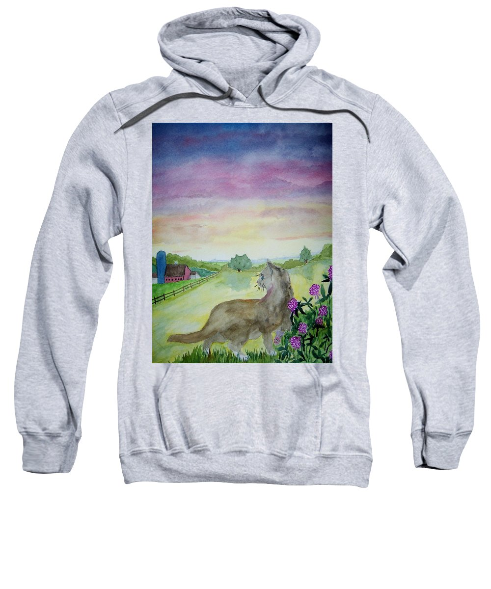 Landscape Sweatshirt featuring the painting Dawn Patrol by B Kathleen Fannin