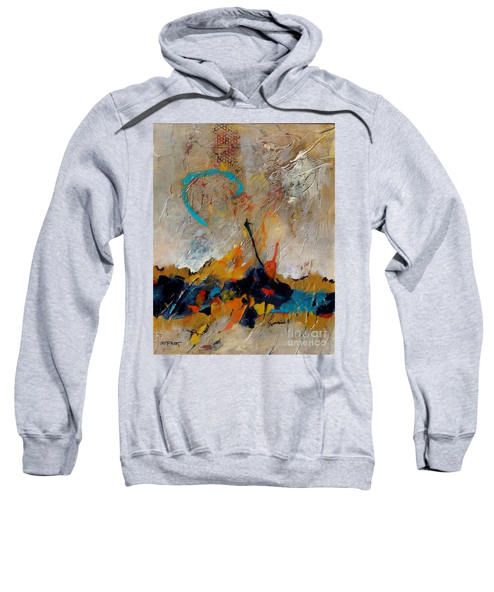 Acrylic Sweatshirt featuring the painting Dawn Vibrations by Donna Frost