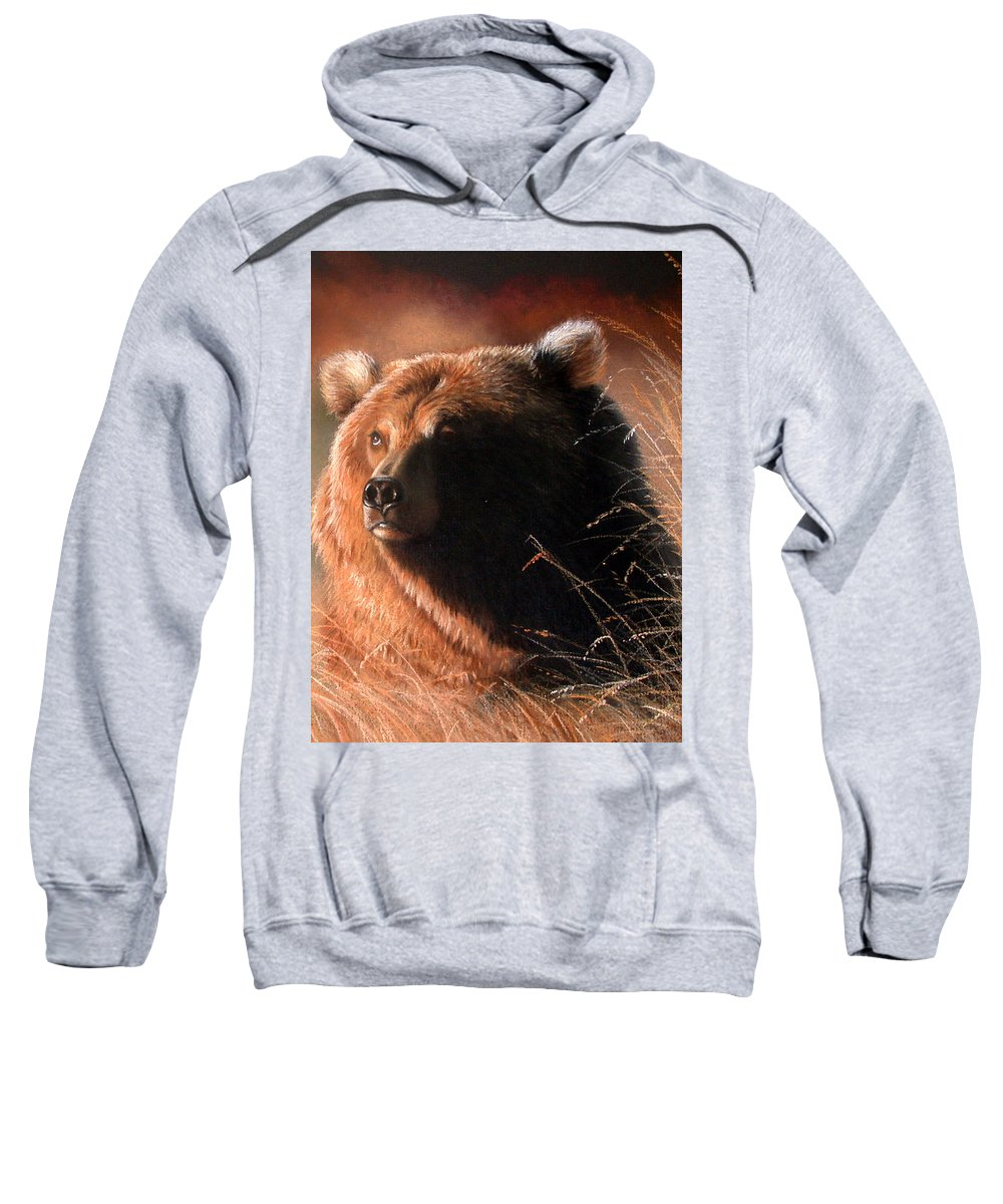 Wildlife Sweatshirt featuring the painting Day Dream by Deb Owens-Lowe