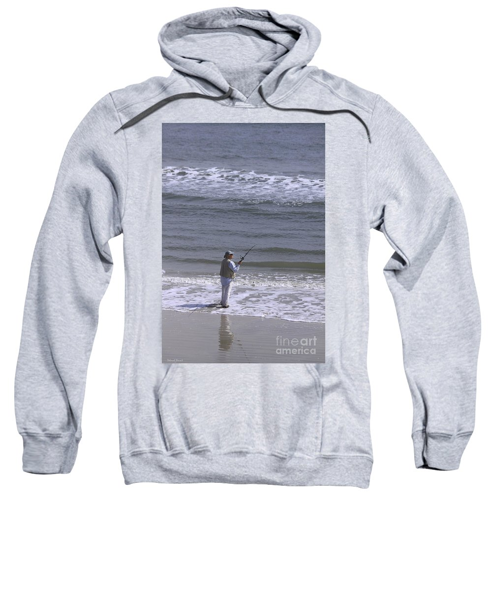 Ocean Sweatshirt featuring the photograph Day Of Ocean Fishing by Deborah Benoit