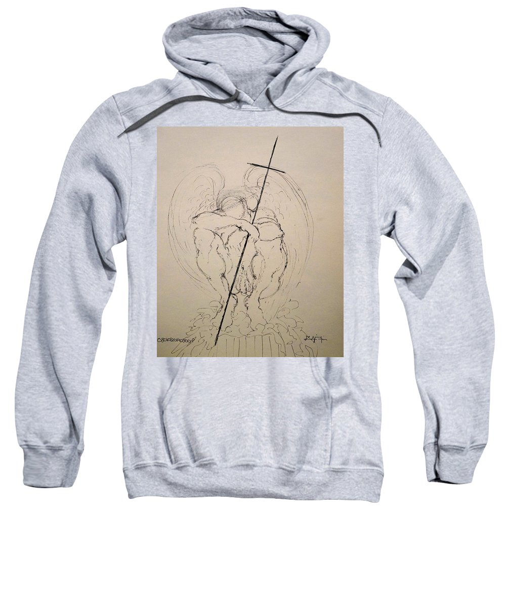 Love Sweatshirt featuring the drawing Daydreaming Of The Return To Love by Giorgio Tuscani