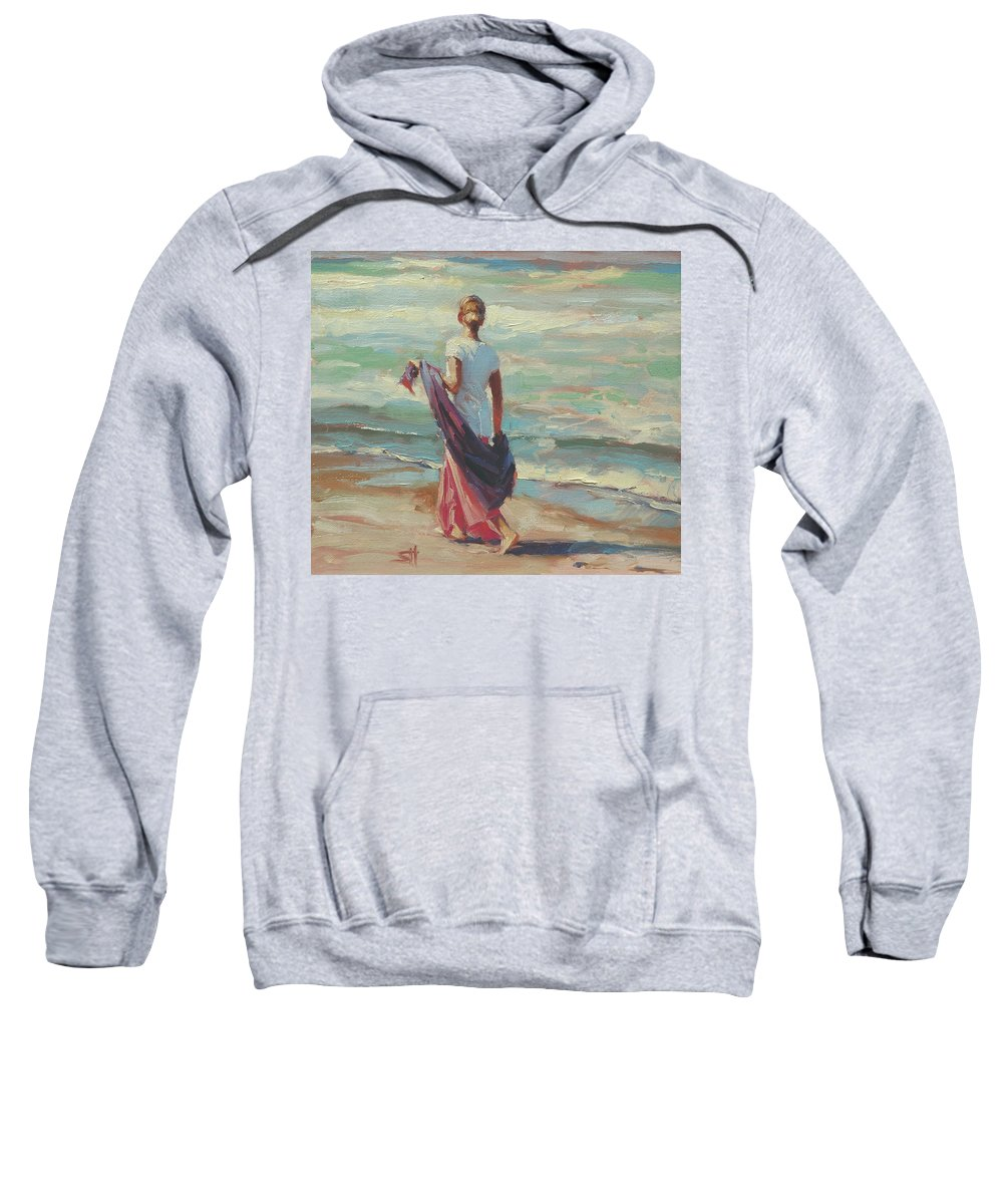 Coast Sweatshirt featuring the painting Daydreaming by Steve Henderson