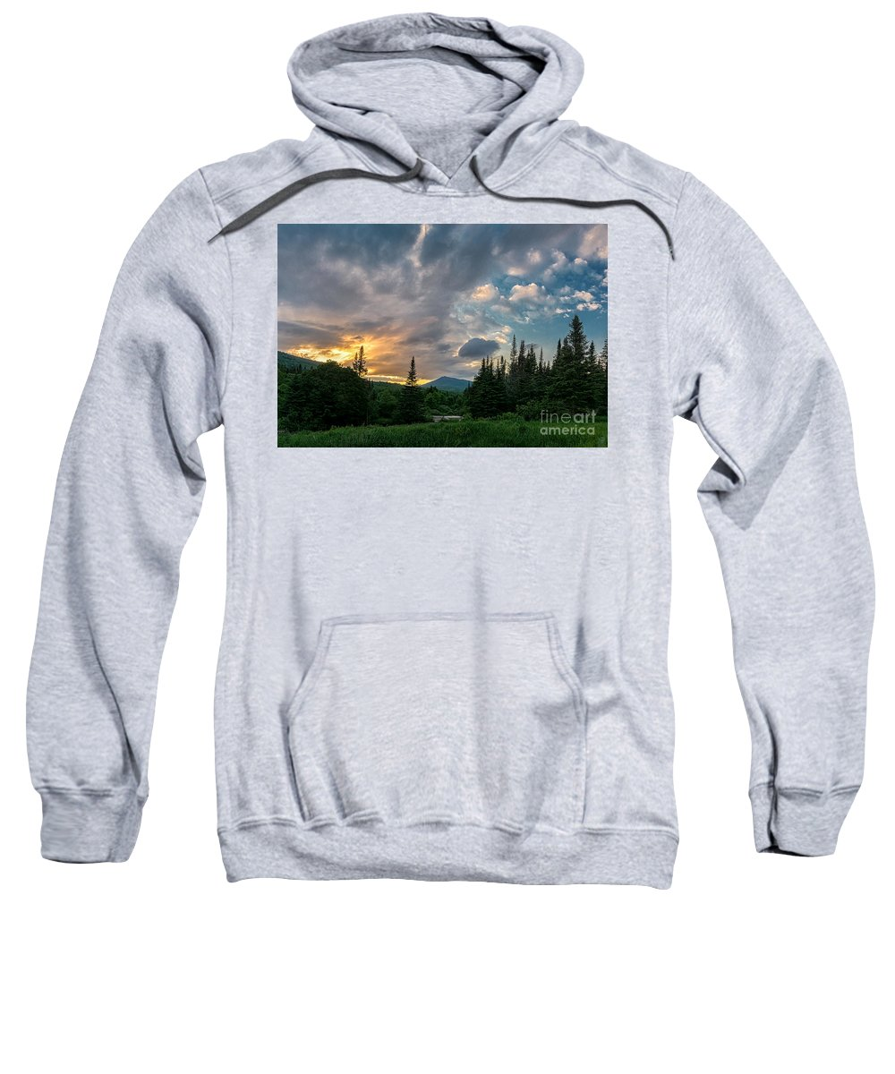 Nh Sweatshirt featuring the photograph Days End In The Bog by Scott Thorp