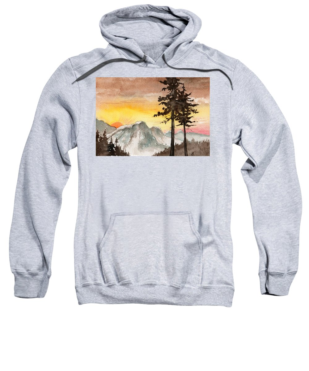 Landscape Sweatshirt featuring the painting Day's Passing by Brenda Owen