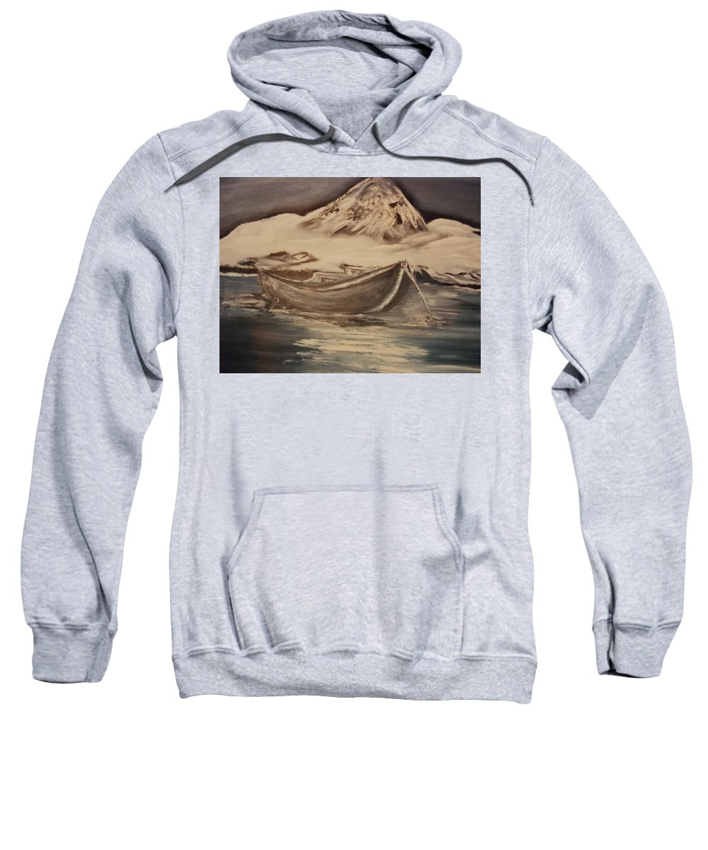 Mountain Sweatshirt featuring the painting Days Rest by Calvin Ott