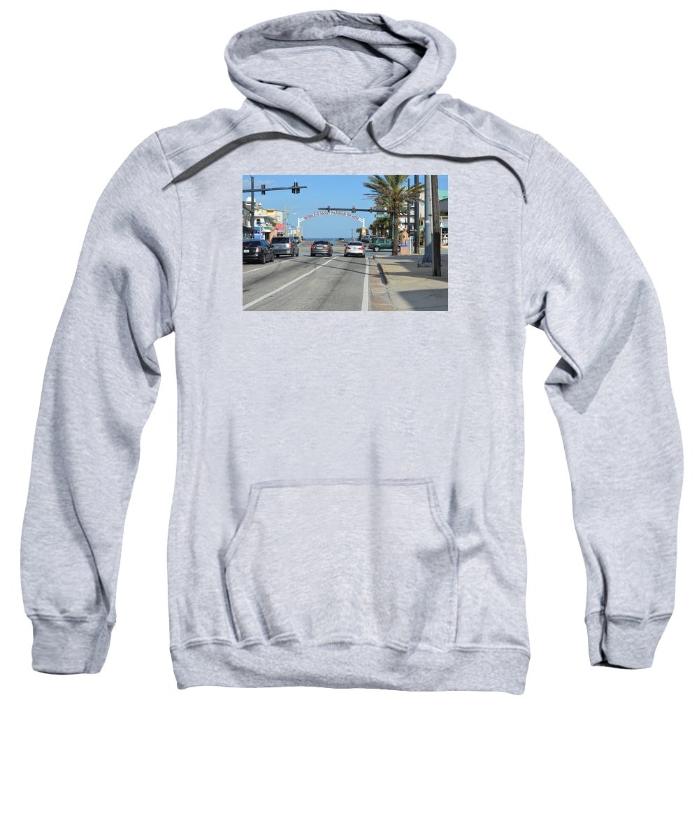 Daytona Sweatshirt featuring the photograph Daytona Beach by Edgar Soto