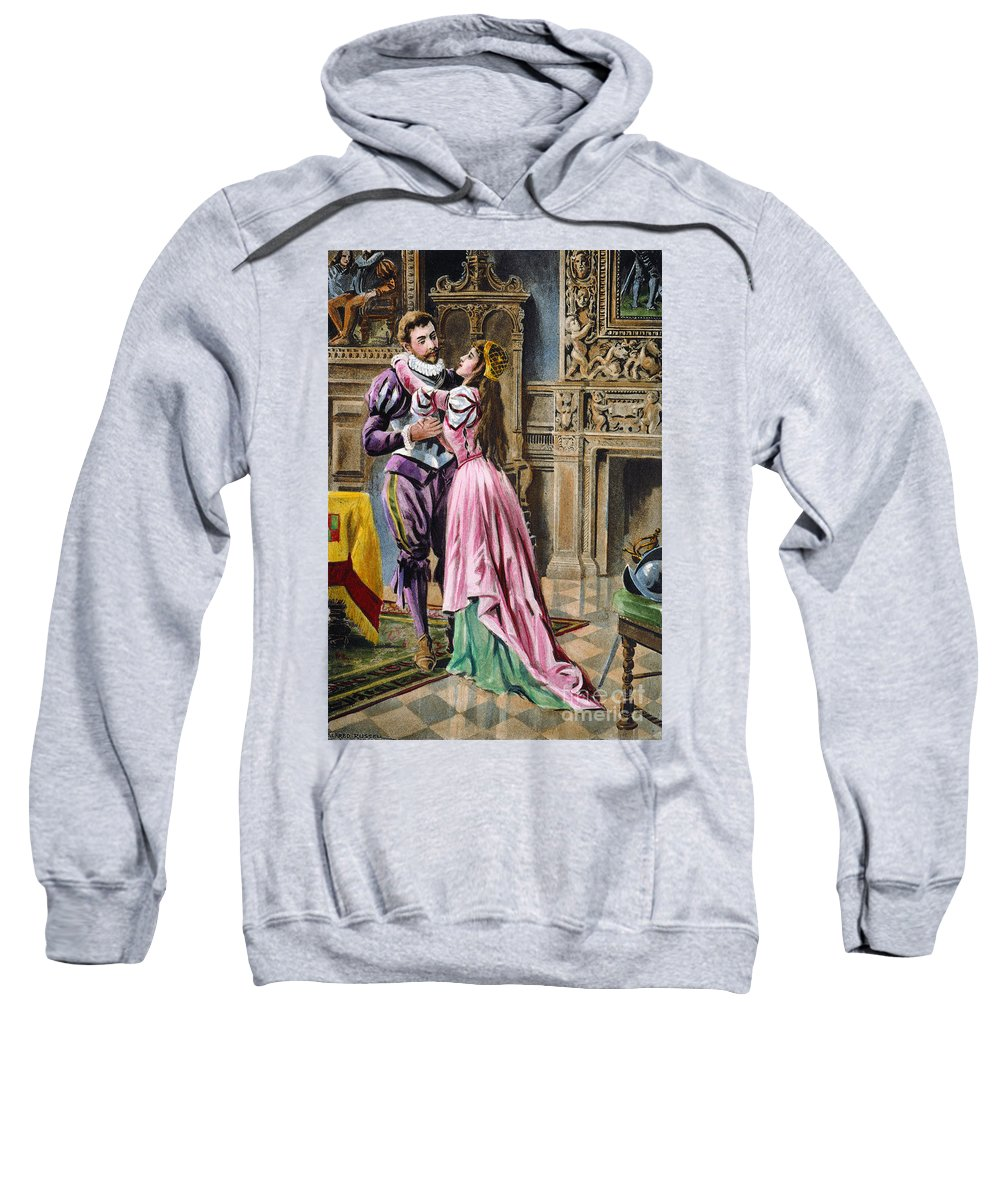 1539 Sweatshirt featuring the photograph De Soto & Isabella, 1539 by Granger