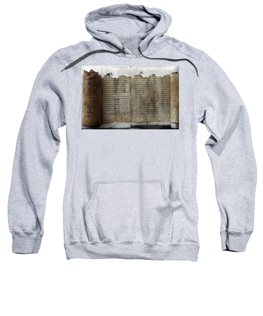 1st Century B.c. Sweatshirt featuring the photograph Dead Sea Scroll by Granger