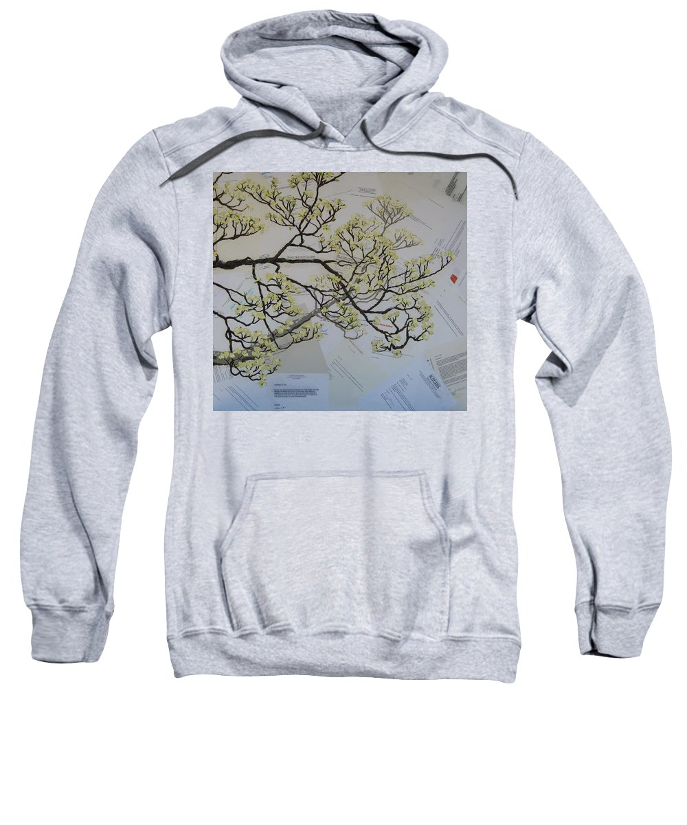 Collage Sweatshirt featuring the painting Dear Artist by Leah Tomaino