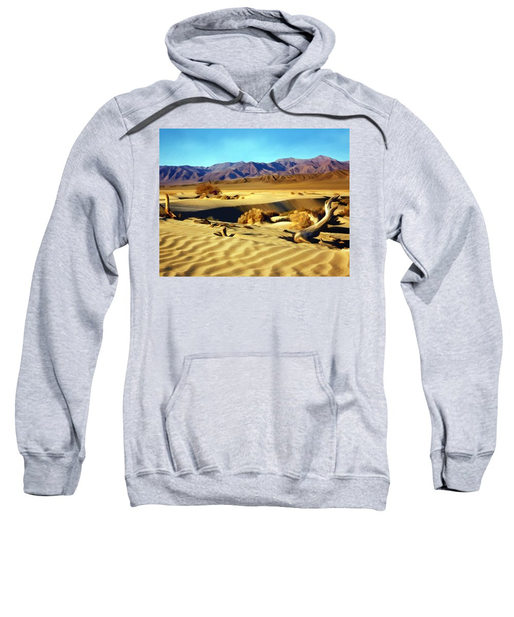 Death Valley Sweatshirt featuring the photograph Death Valley by Kurt Van Wagner