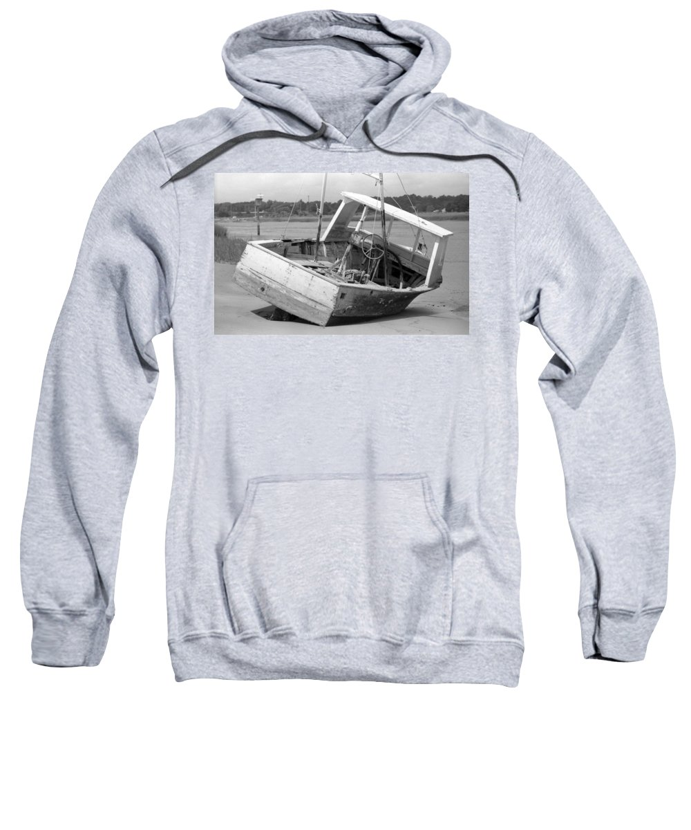 Abandoned Sweatshirt featuring the photograph Decommissioned by Richard Rizzo
