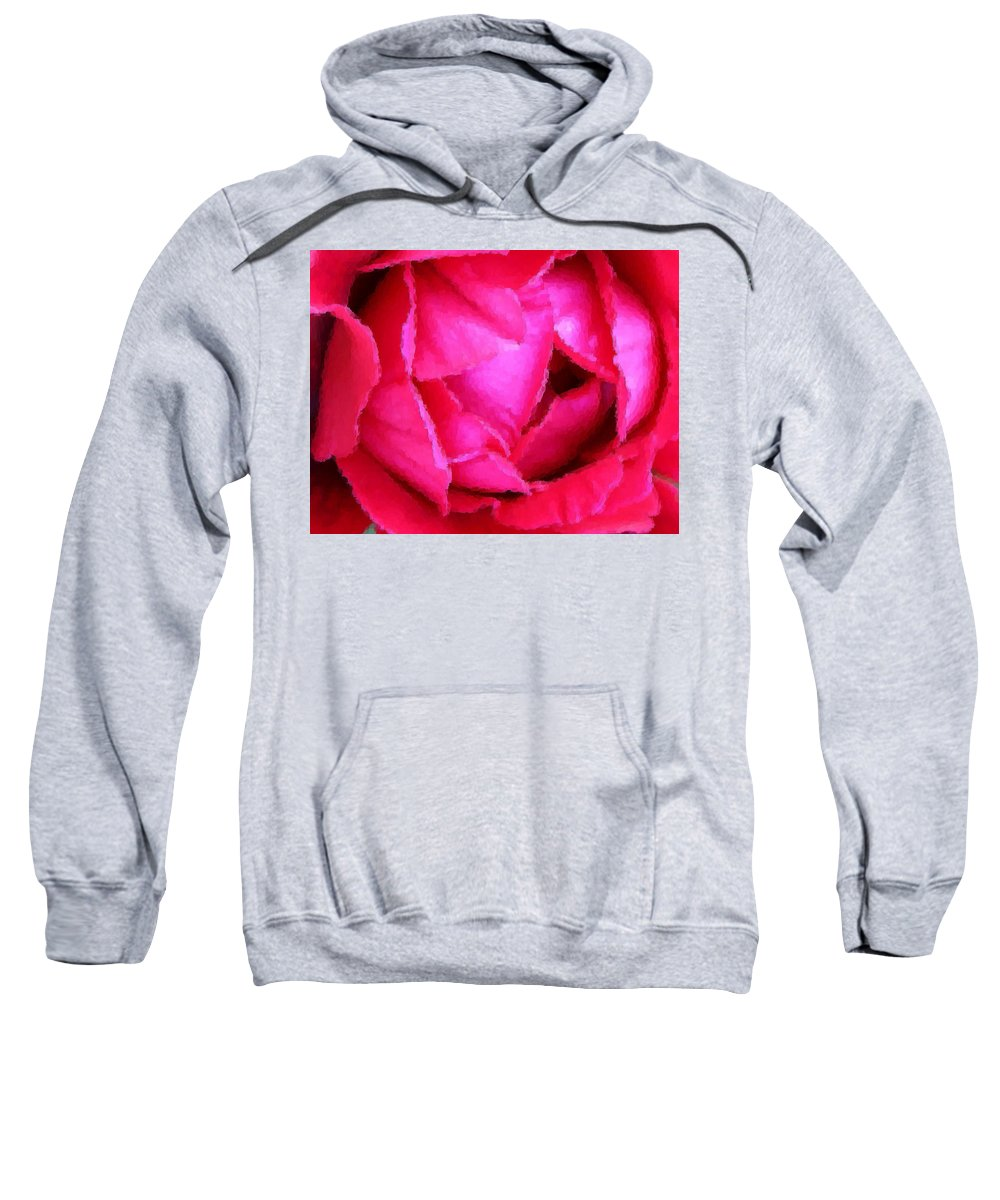 Rose Sweatshirt featuring the photograph Deep Inside The Rose by Kristin Elmquist