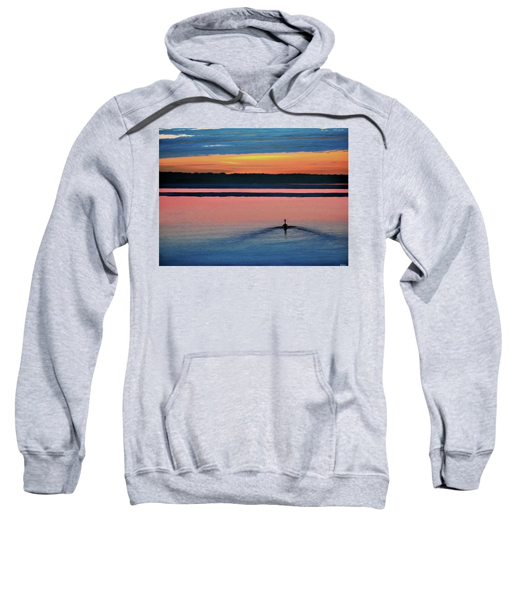 Sunset Sweatshirt featuring the painting Deepest Sunset by Kenneth M Kirsch