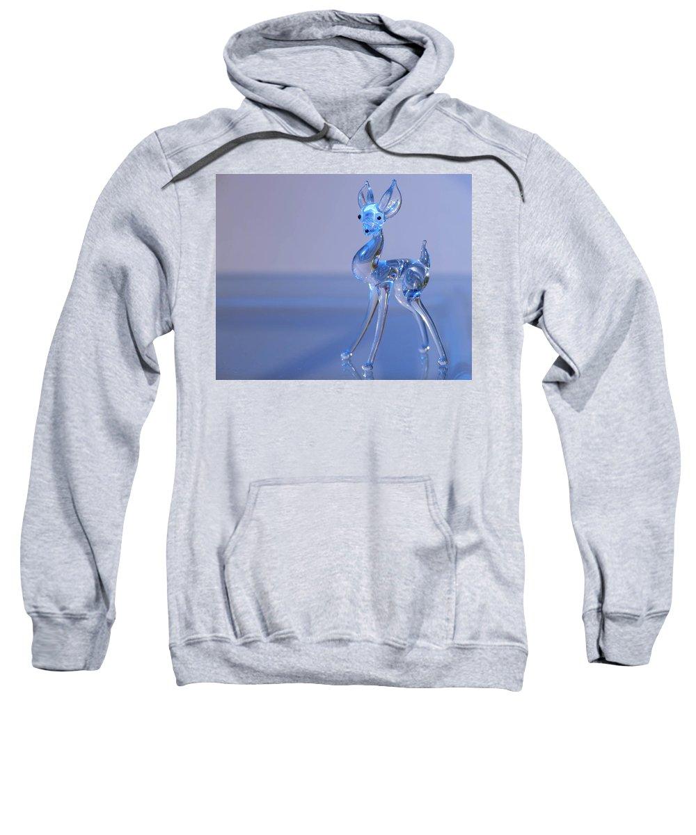 Deer Sweatshirt featuring the photograph Deer Made Of Glass by Stefan Rotter