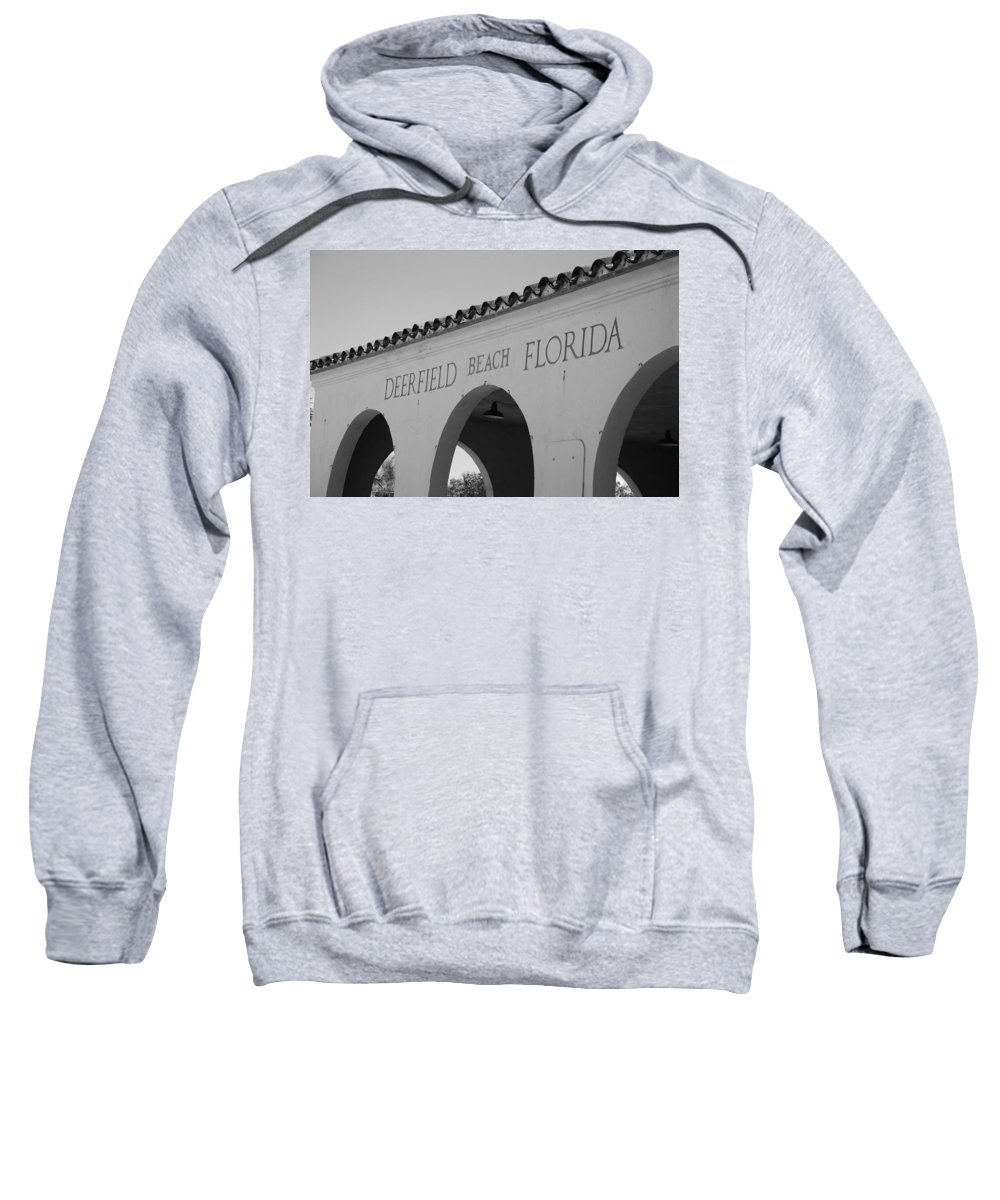 Black And White Sweatshirt featuring the photograph Deerfield Beach Florida by Rob Hans