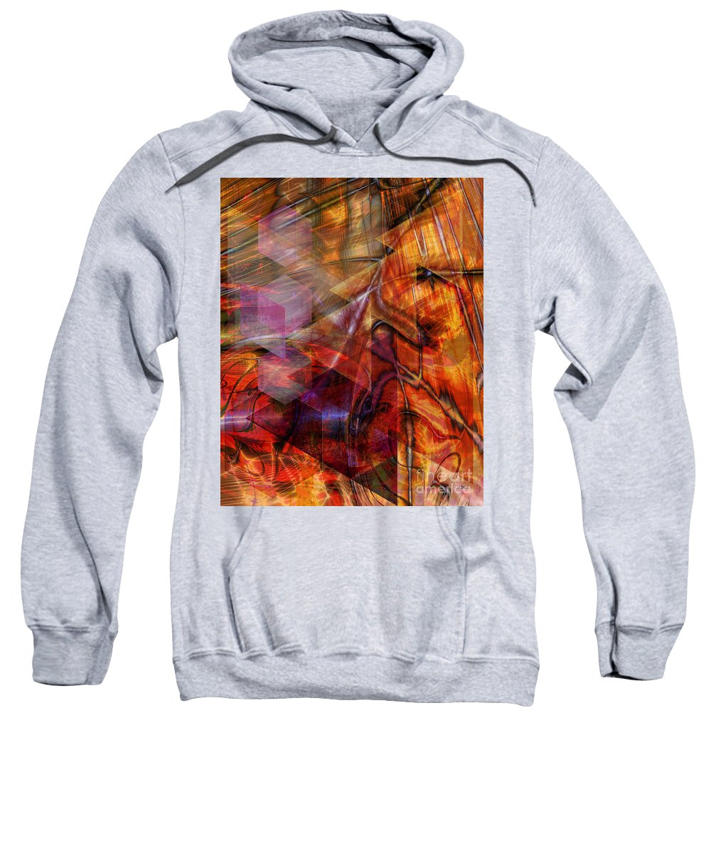 Deguello Sunrise Sweatshirt featuring the digital art Deguello Sunrise by John Beck