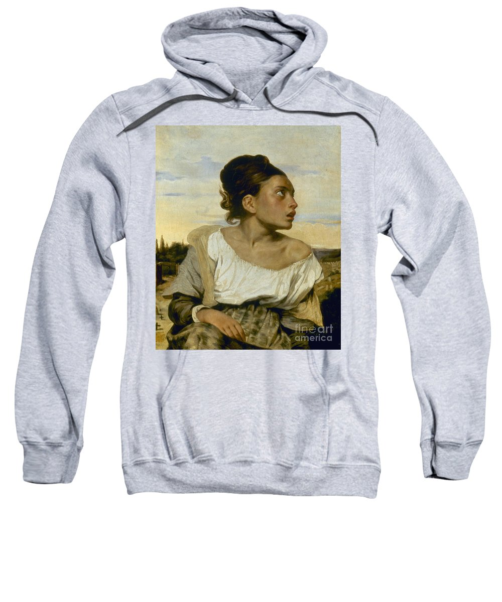 1824 Sweatshirt featuring the photograph Delacroix: Orphan, 1824 by Granger