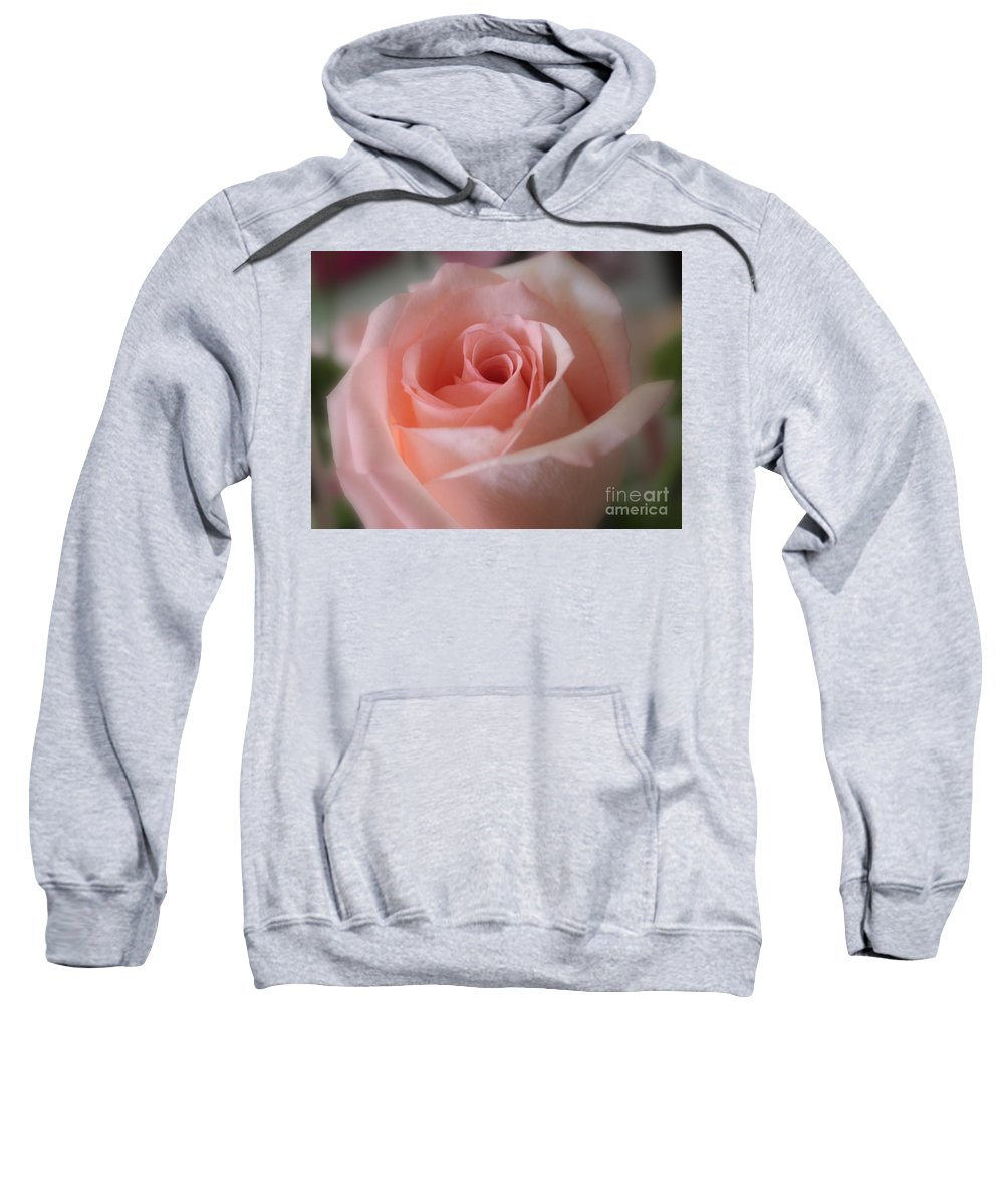 The Power Of Pink Sweatshirt featuring the photograph Delicate Pink Rose by Carol Groenen