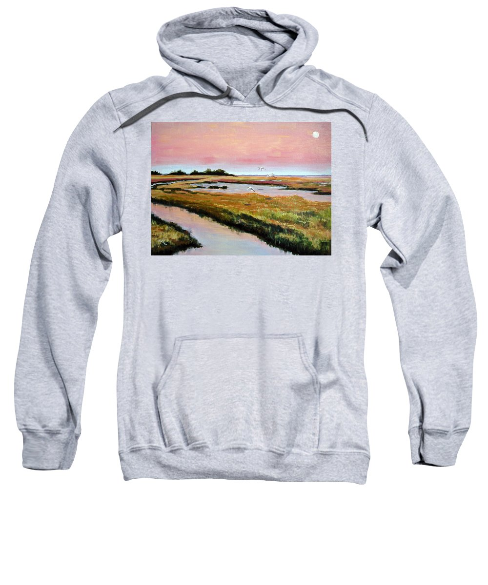 Acrylic Sweatshirt featuring the painting Delta Sunrise by Suzanne McKee