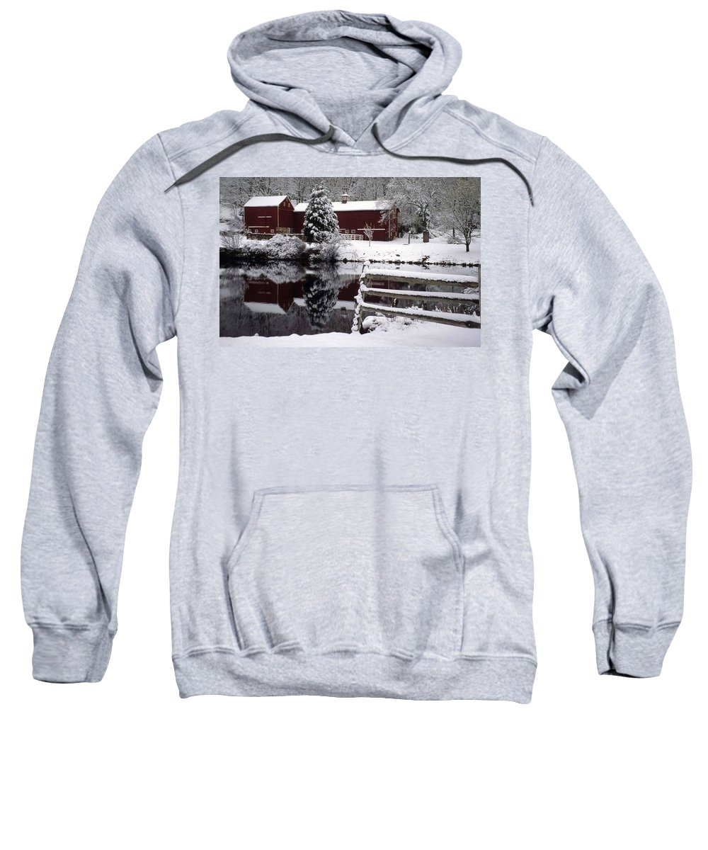 Barn Sweatshirt featuring the photograph Denville Homestead by Laurie Paci