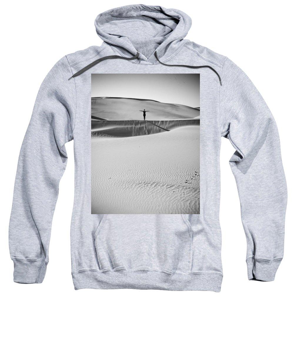 Sand Dunes Sweatshirt featuring the photograph Desert Austerity by Scott Sawyer