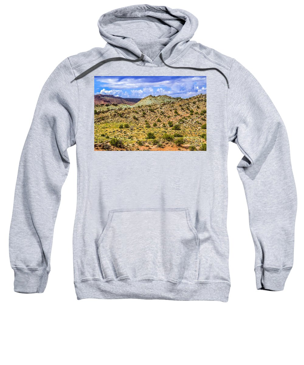 Arches Sweatshirt featuring the photograph Desert Colors by Roberta Bragan