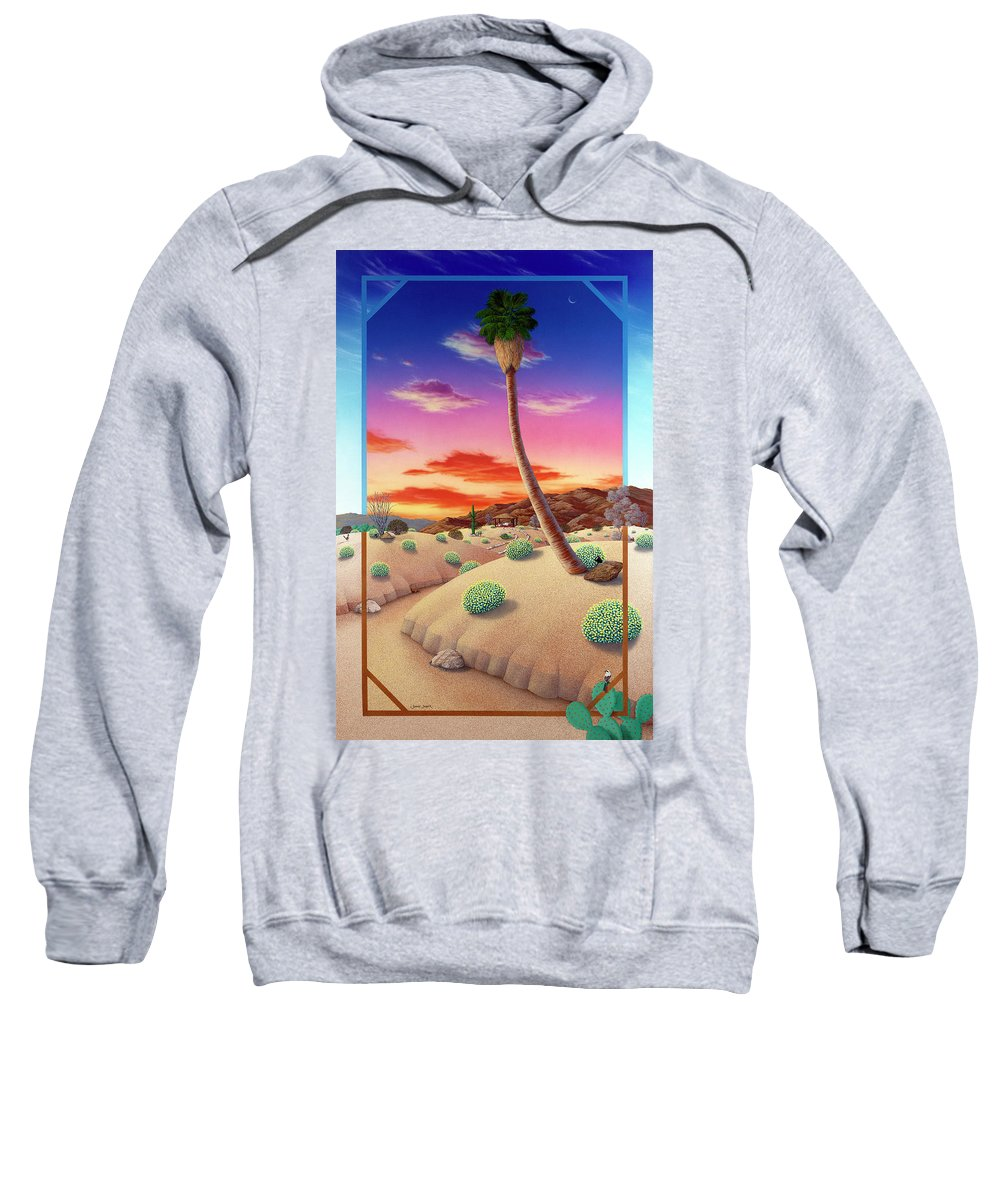 Landscape Sweatshirt featuring the painting Desert Gazebo by Snake Jagger