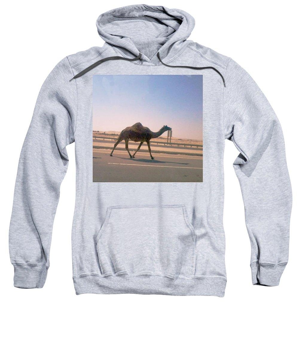 Desert Sweatshirt featuring the photograph Desert Safari by Nilu Mishra