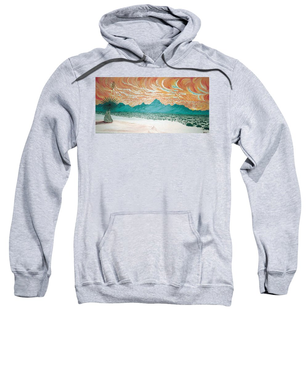 Desertscape Sweatshirt featuring the painting Desert Splendor by Marco Morales
